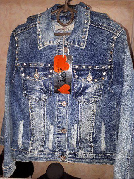 Джинсовый пиджак на подростка Турция 10