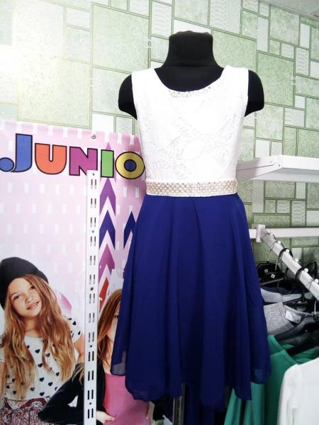 Нарядное платье гипюр + шифон 104-110