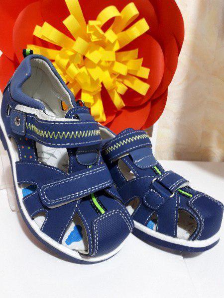 Закрытые сандали на мальчика 29