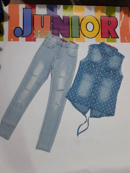 Модные джинсы рванки на девочку подростка 146