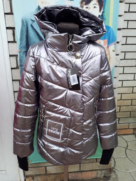 Куртка на девочку серебро Хит 2018 года 44