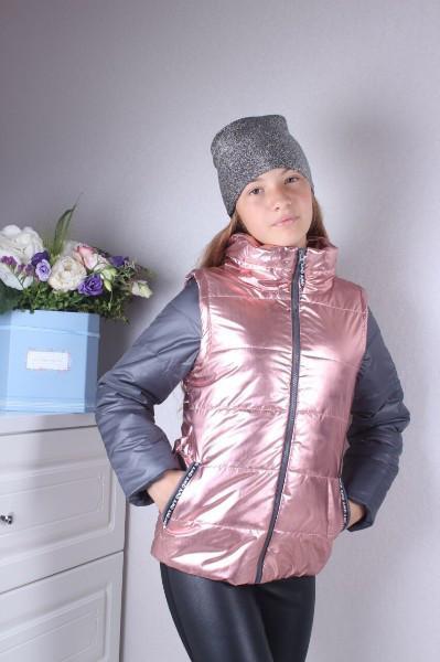 Демисезонная куртка двойка трансформер на девочку