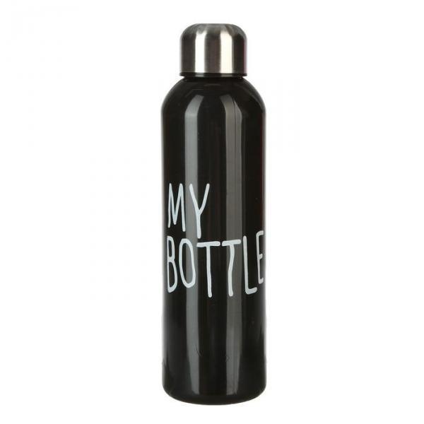 Бутылка для воды My Bottle с винтовой крышкой, 500 мл, чёрная