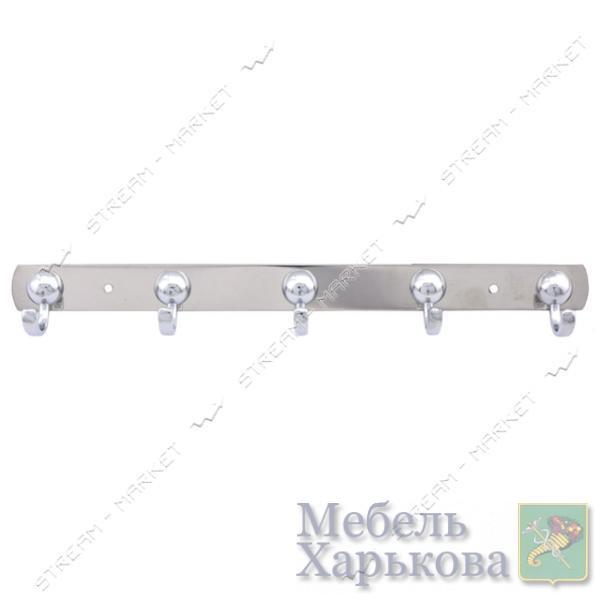 Вешалка на 5 крючка 310 хром - Вешалки для одежды в Харькове
