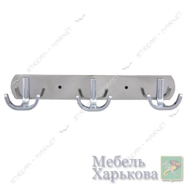 Вешалка на 3 крючка 326 хром - Вешалки для одежды в Харькове