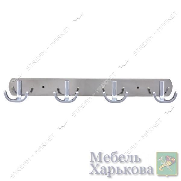 Вешалка на 4 крючка 326 хром - Вешалки для одежды в Харькове