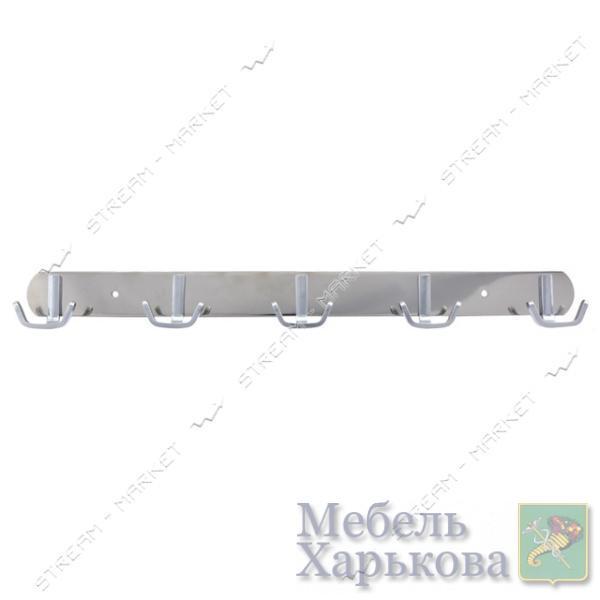 Вешалка на 5 крючков 326 хром - Вешалки для одежды в Харькове