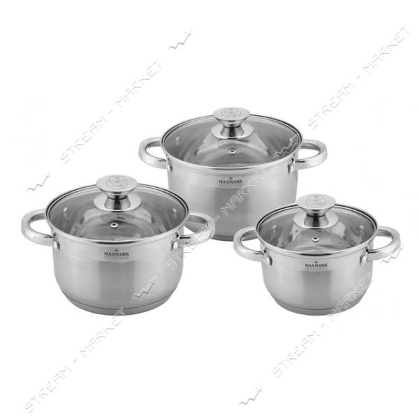 Maxmark набор посуды MK-3506F (3кастрюли 3крышки)