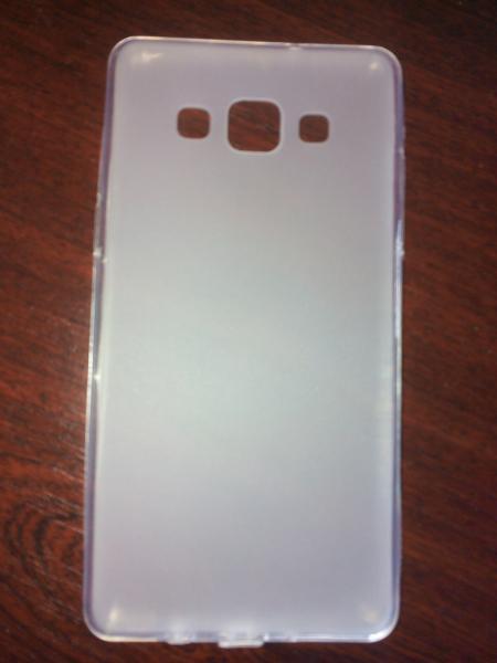 Чехол силиконовый Samsung Galaxy A5 белый матовый
