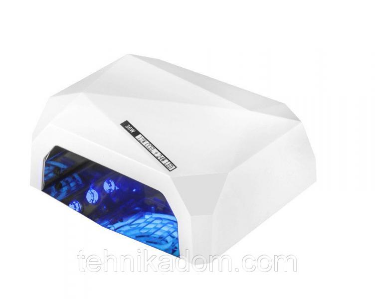 Лампа для наращивания ногтей Lamp Diamond 36W LED+CCFL Белый