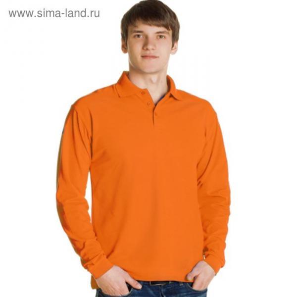 Рубашка-поло мужская StanPolo, размер 50, цвет оранжевый 185 г/м 04S