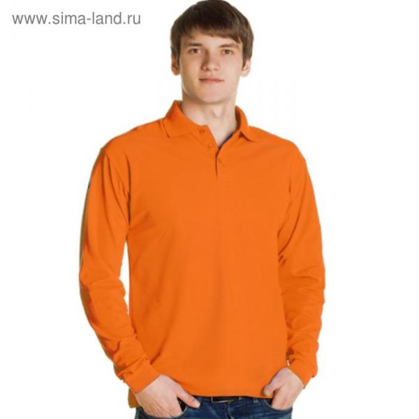 Рубашка-поло мужская StanPolo, размер 54, цвет оранжевый 185 г/м 04S