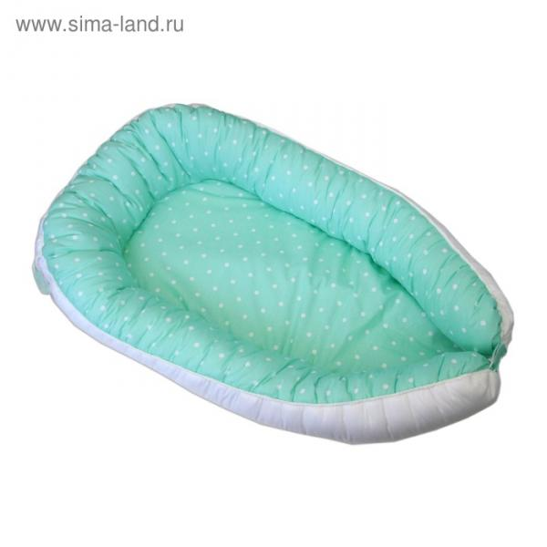 """Гнёздышко для малыша """"Зелёный горошек"""", размер 55х95 см, поплин"""