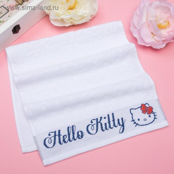 Полотенце детское Hello Kitty 50х90 см, цвет белый 100% хлопок, 400 г/м²