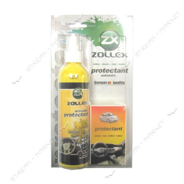 Zollex MLVA25 Полироль для пластика торпеды с губкой 240мл Ваниль