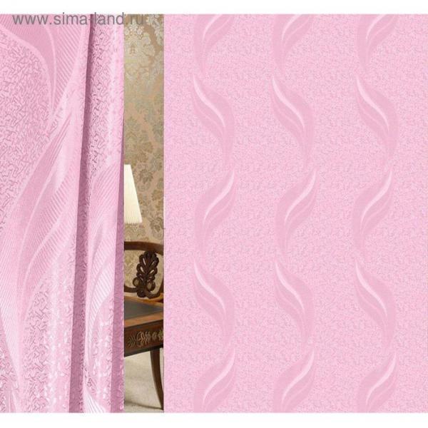 Портьерная ткань в рулоне, ширина 155 см, однотонный, жаккард 41912