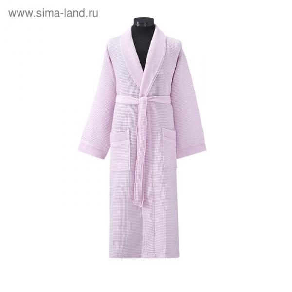 Халат вафельный Aleron, размер XL (50), розовый, 240 г/м2
