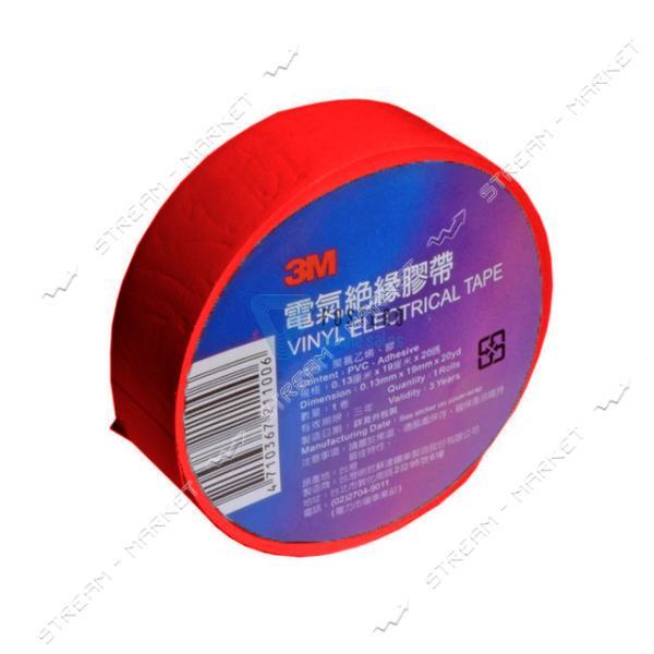 Изолента ПВХ 3M 19х0.13мм 20 м красная
