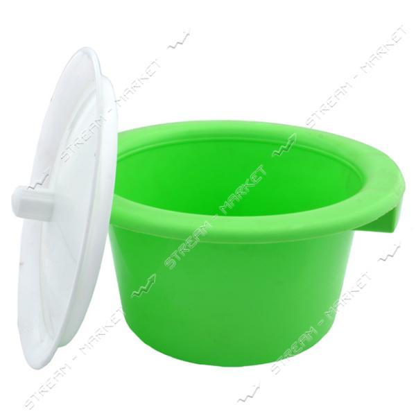 Горшок пластиковый (детский) с крышкой (мятный)