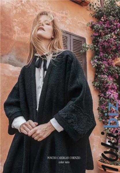 ПОНЧО-КАРДІГАН CORINZIO, цена фото купить в Киеве. Раздел Женские свитера, водолазки, гольфы, кофты