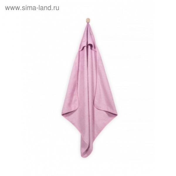 Полотенце с капюшоном, размер 75х75 см, цвет розовый