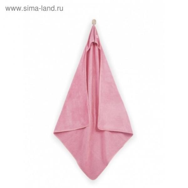 Полотенце с капюшоном, размер 100х100 см, цвет коралловый