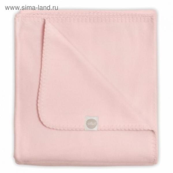 Плед байковый, размер 100х150 см, цвет светло-розовый