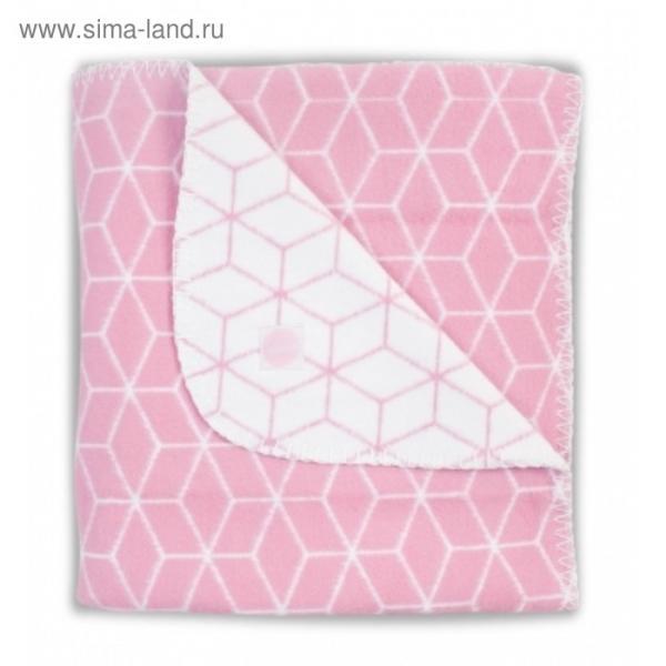 Плед байковый Graphic, размер 100х150 см, цвет розовый