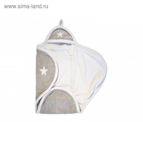 Конверт-одеяло, размер 100х105 см, песочный/молочный, флис