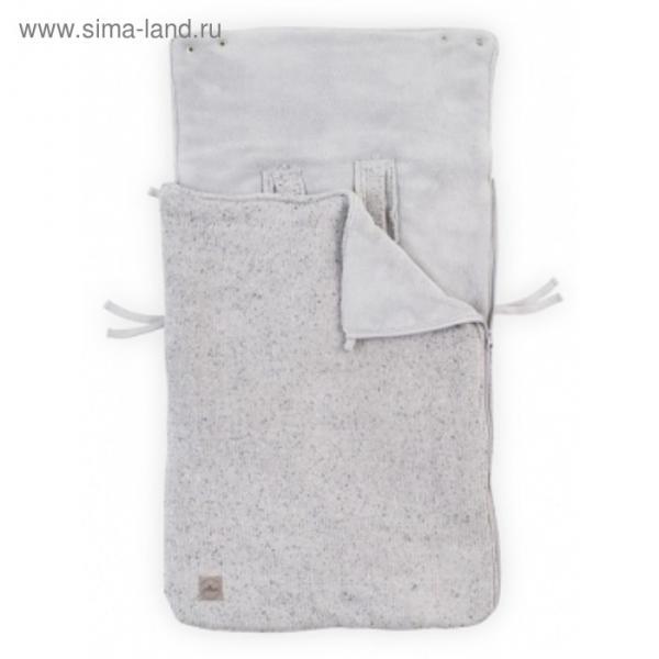 Конверт демисезонный Confetti knit, размер 42х82см, цвет серый