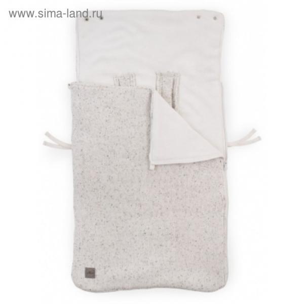 Конверт демисезонный Confetti knit, размер 42х82см, цвет молочный
