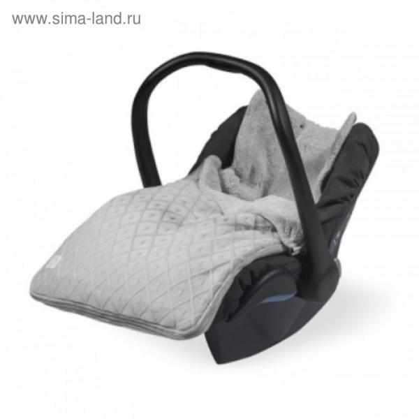 """Конверт демисезонный """"Ромбы"""", размер 43х78 см, 0-9 мес., цвет серый"""