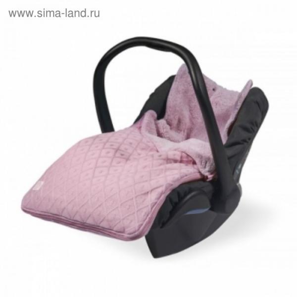 """Конверт демисезонный """"Ромбы"""", размер 43х78 см, 0-9 мес., цвет розовый"""