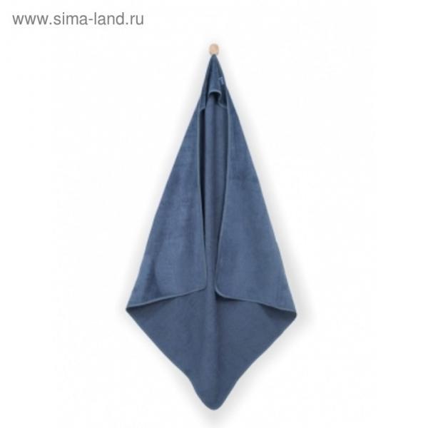 Полотенце с капюшоном, размер 100х100 см, цвет голубой