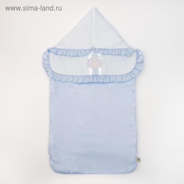 """Конверт """"Фламинго"""", 37х74 см, цвет голубой, сатин/хф 16/1"""