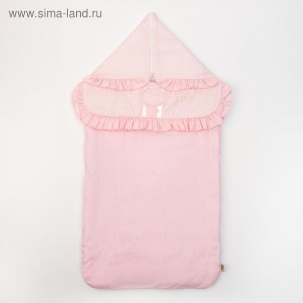 "Конверт ""Фламинго"", 37х74 см, цвет розовый, сатин/хф 16/2"