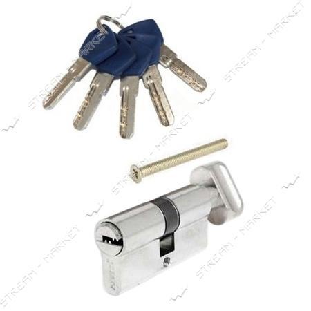 Секрет латунный Апекс EM-60-C-N 30/30 ключ/поворот 5 лазер. кл