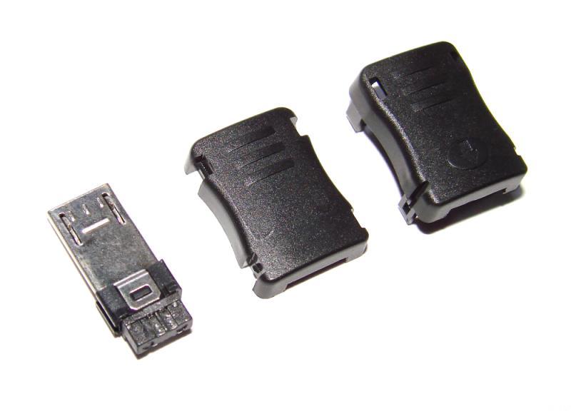 Штекер micro USB 10 мм. удлиненный