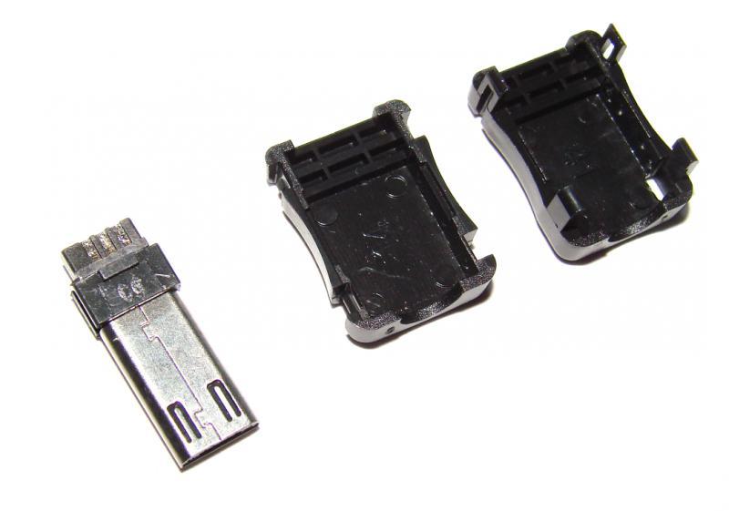 Штекер micro USB 12 мм. удлиненный