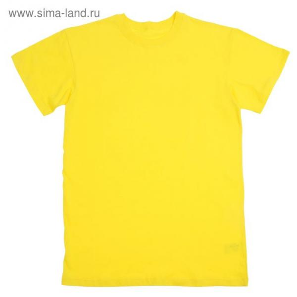 Футболка детская, рост 158 см (13 лет), цвет лимонный Н116