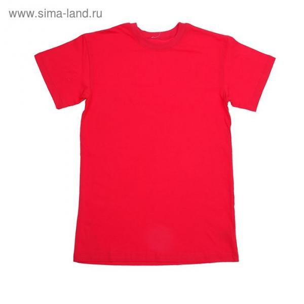Футболка детская, рост 158 см (13 лет), цвет красный Н116