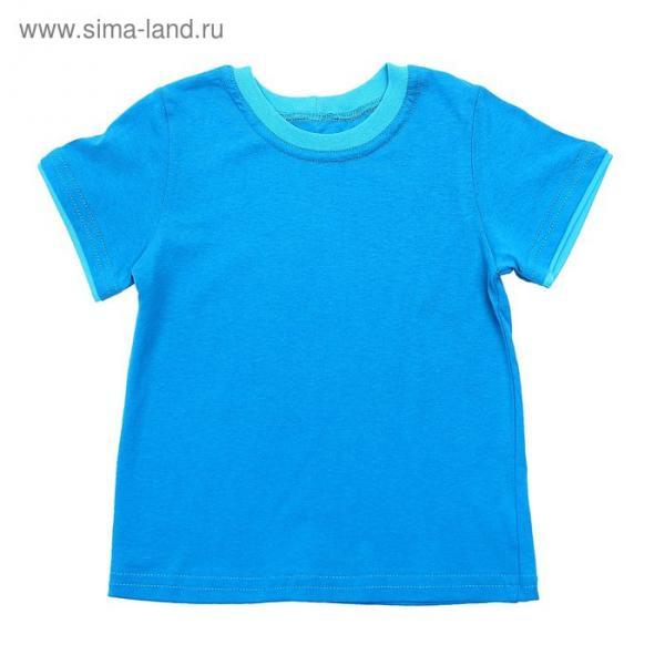 Футболка для мальчика, рост 104 (28) см, цвет бирюзовый (арт. К-045-3_Д)