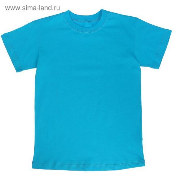 Футболка детская, рост 146 см, цвет бирюзовый Н116