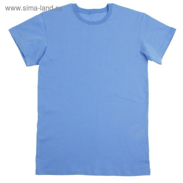Футболка детская, рост 170 см, цвет голубой Н116