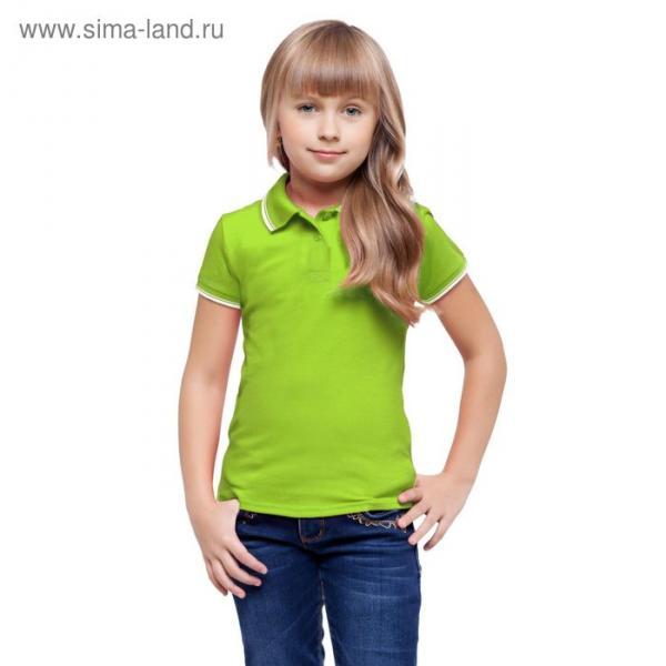 Рубашка-поло детская StanTrophy Junior, 10 лет, цвет ярко-зелёный 185 г/м 04TJ