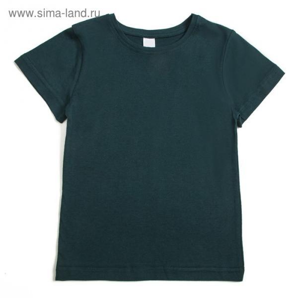 Футболка для мальчика, рост 140-146 см, цвет зелёный