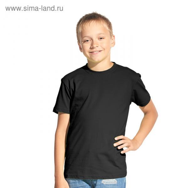 Футболка детская StanKids, рост 140 см, цвет чёрный 150 г/м 06