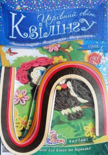 """Набір кольорового паперу для квілінгу """"Сова"""" (3х420 мм, 5 кол., кол. основа)"""