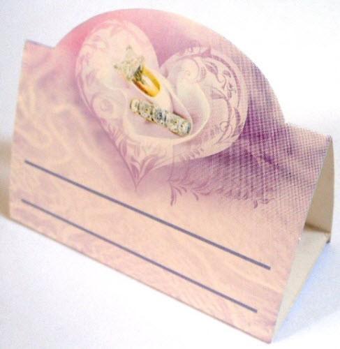 Банкетка (рассадочная карточка) свадебная