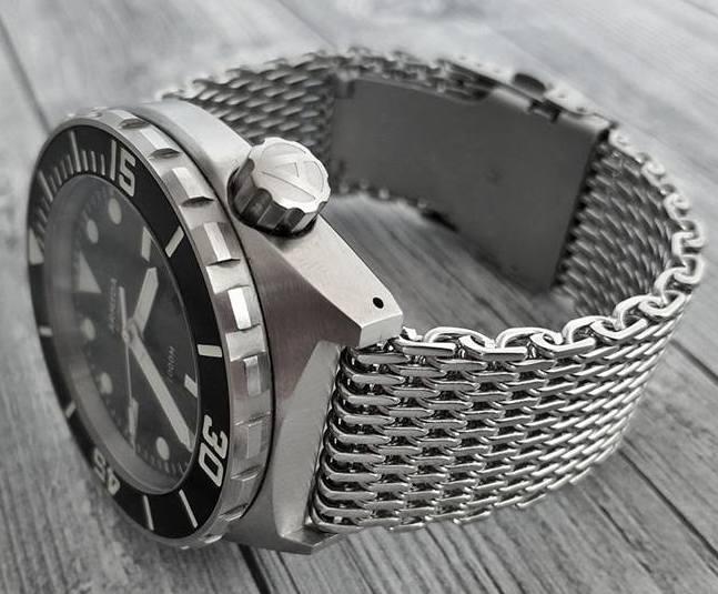 Кольчужный браслет для часов, Shark Mesh